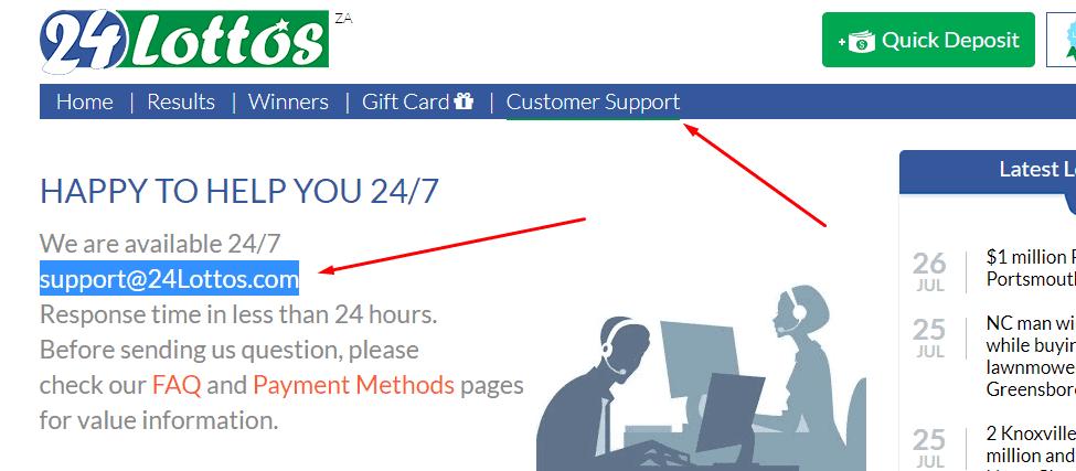 24Lottos-Customer-Support