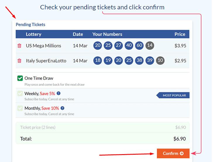 24Lottos pending tickets