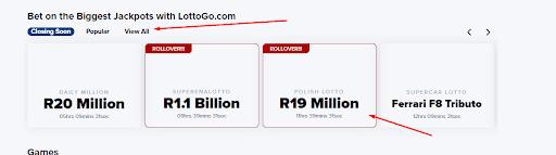 LottoGo biggest jackpots