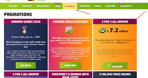 LottoLand promotions