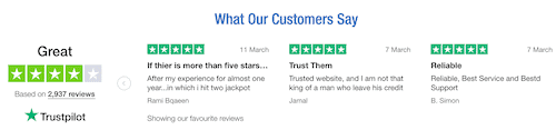 TheLotter review: customer review screen