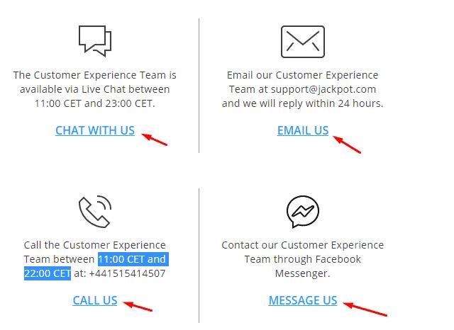 Jackpot.com Customer Support