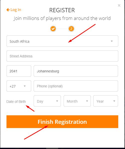Jackpot.com Sign-up Process