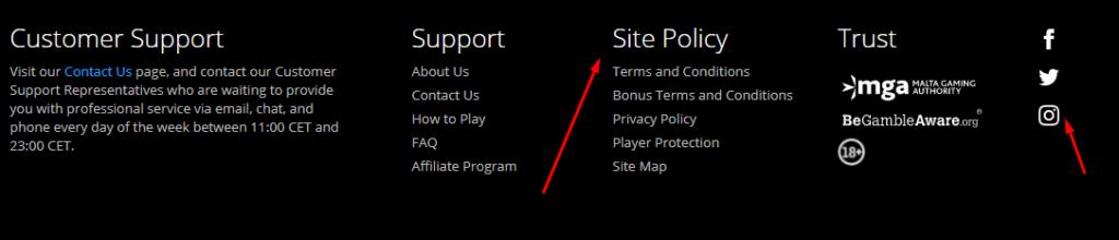 Jackpot.com webpage