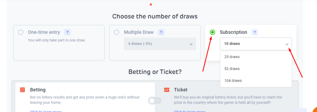 LottoAgent Multiple Draw and Subscription