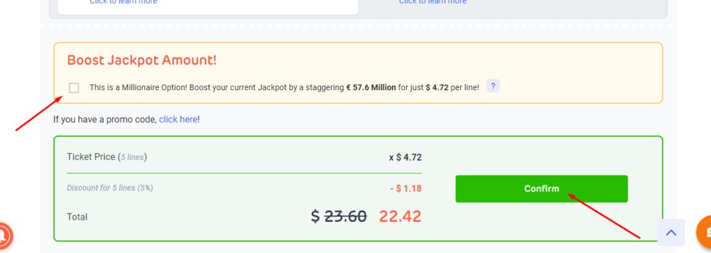 boost LottoAgent jackpot amount