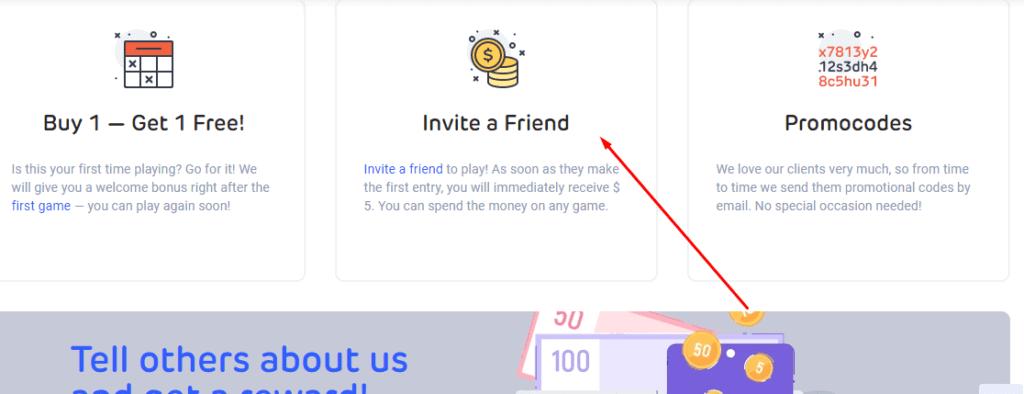 Invite a friend in LottoAgent